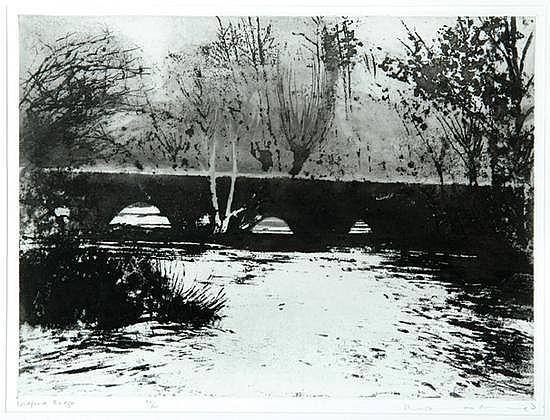 Norman Ackroyd (b.1938) widford bridge etching
