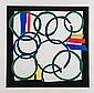 Sandra Blow (1925-2006) Borderline silkscreen in
