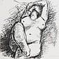 Anthony Caro (b.1924) Female Nude lithograph,
