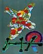 John Hoyland (1934-2011) Untitled monotype printed