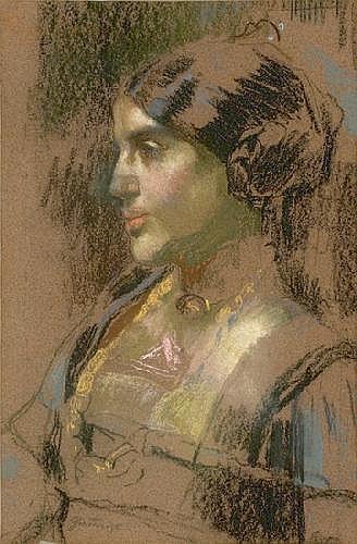 Pietro Gaudenzi (1880-1955) Giovane popolana