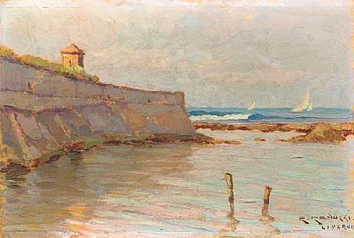 Renuccio Renucci (1880-1947) Veduta di Livorno