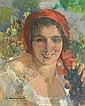 Cipriano Mannucci (1882-1970) Ragazza con grappolo, Cipriano Mannucci, Click for value