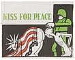 UNGERER, Tomi (1931-) KISS FOR PEACE Lithograph in