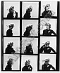 [ Photographs ] Willy Maywald (1907-1985) Chapeau Jacques Fath (Lisa Fonssagrives Penn) 1951, gelatin silver print contact sheet with 12 images, 247 x E100-150 Reference: cf. E. Pineau, Willy Maywald, L'elegance du regard, Paris, 2002, p.79; cf., Willy Maywald, Click for value