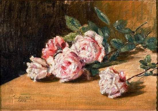 Cesare Calchi Novati (Milano 1858 - 1939) Due