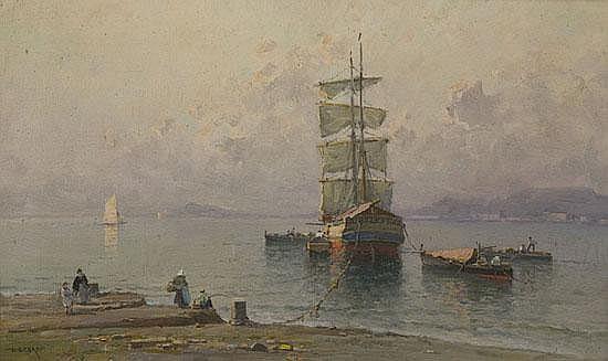 Nicolas De Corsi (Odessa 1882 - Napoli 1956) Scena