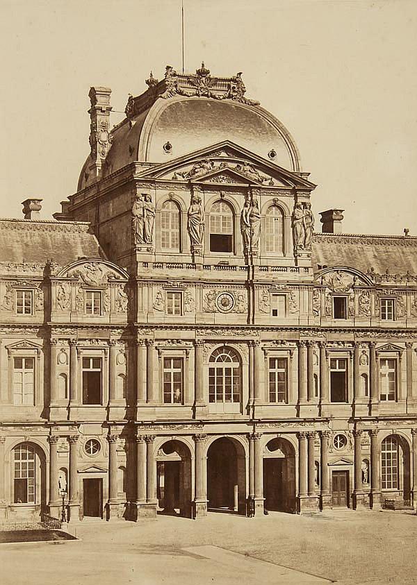 Edouard Baldus (1813-1889). Le Louvre Grand