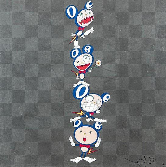 Takashi Murakami (b.1962) DOB Totem Pole, offset