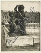 DDS. C.R.W. Nevinson (1889-1946) Statue etching