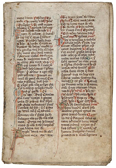 Book of Hours, 4 leaves from the Office for Lauds,