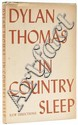 Thomas (Dylan) In The Country Sleep, first edition