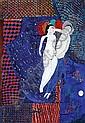 Dora Holzhandler (B. 1928) the lovers, 1965 oil on, Dora Holzhandler, Click for value