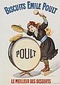 BOUISSET, Firmin BISCUITS EMILE POULT lithograph