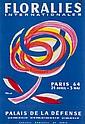 VILLEMOT, Bernard FLORALIES lithograph in colours,