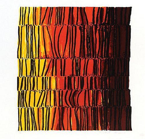 Robert Adams (1917-1984) yellow and orange