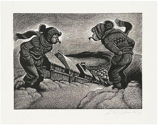 EICHENBERG, Fritz (illustrator, 1901-1990). -