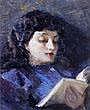 Francesco Galante (1884 - 1972) La lettura firmato