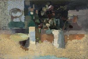 Eric Dobson (1923-1992) Still Life with Chair,