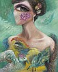 A Jiana Feather Dress, 2012 oil on canvas150 x 120