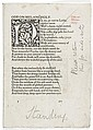 Keats (John) The Poems, proof sheets for