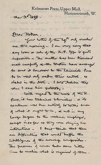 Cockerell (Sir Sidney C.) Fourteen autograph