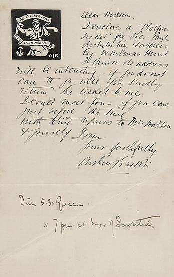 Gaskin (Arthur J.) Seven autograph letters signed