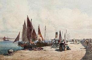 John Ernest Aitken (1881-1957) Fishing boats at a