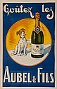 ANONYMOUS AUBEL & FILS lithograph in colours,
