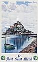 PECHEUX LE MONT SAINT-MICHEL lithograph in