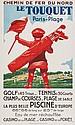 COURCHINOUX, Edouard (1891-1968) LE TOUQUET, Golf,
