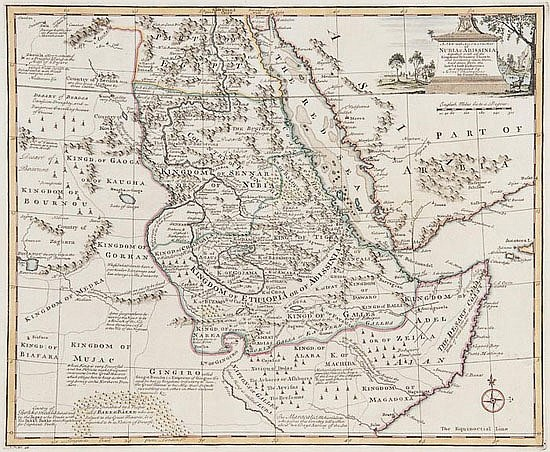 Bowen (Emanuel) Nubia & Abissinia, engraved map,