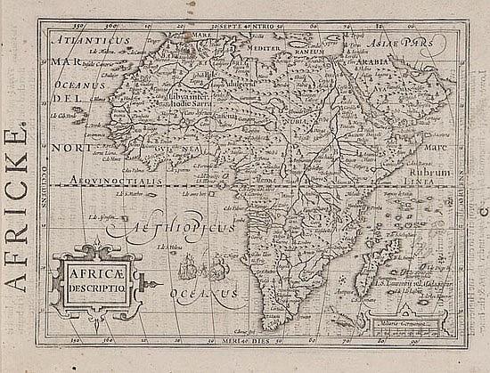 Mercator (Gerard) and Jodocus Hondius. Africæ