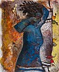 Yoël Benharrouche (b.1961) Sieste Bleue oil on