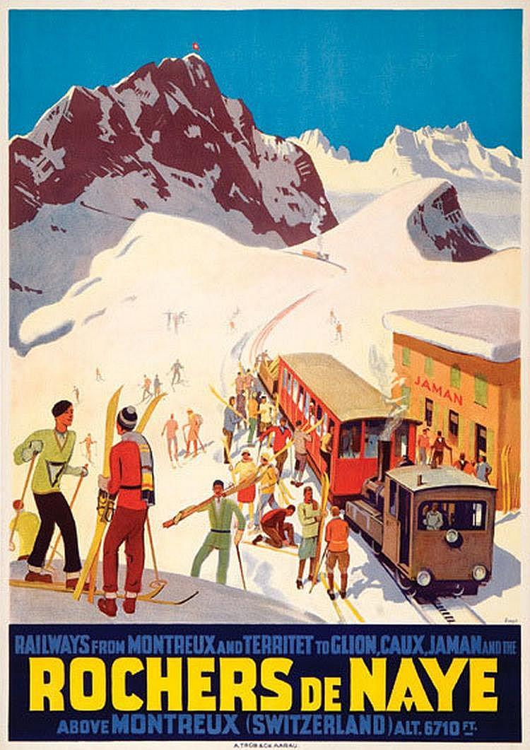 ERNST, Otto [1884-1967] ROCHERS DU NAYE lithograph