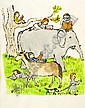 STEIG, WILLIAM. Books Wow! original watercolor, William Steig, Click for value