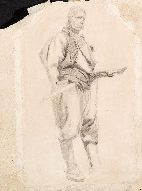 Tranquillo Cremona (1837-1878) 'L'Albanese'