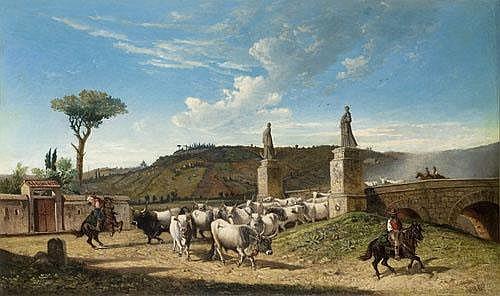 Charles Coleman (1808-1874) Roma, mandria sul