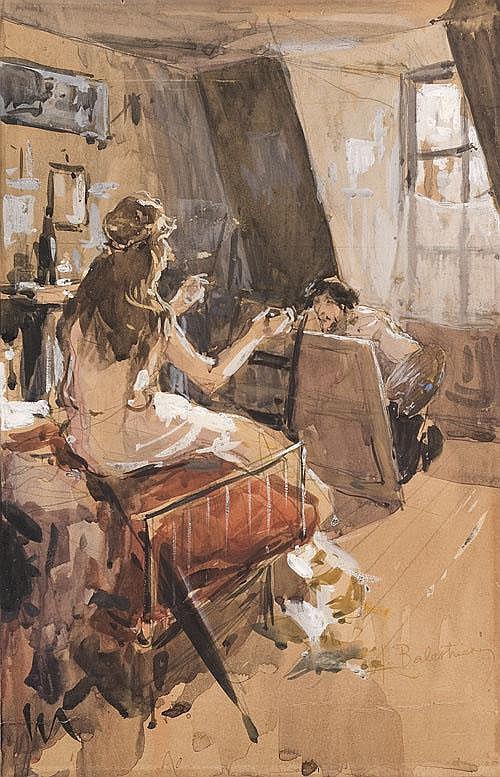 Lionello Balestrieri (1872-1958) Il pittore e la