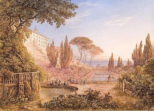 Friedrich Horner (1800-1864) Veduta di Villa
