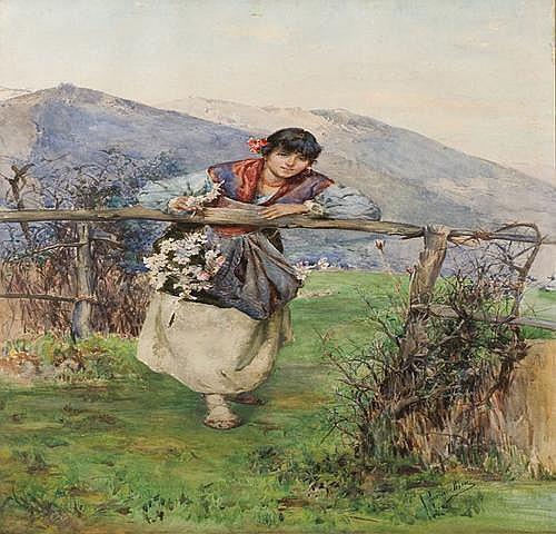 Domenico Pennacchini (1860-1917) Giovane contadina