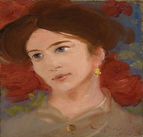 Corrado Michelozzi (1883-1965) Ritratto di donna,