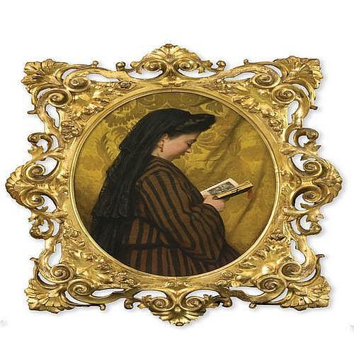 Odoardo Borrani (1832-1905) La preghiera, 1862