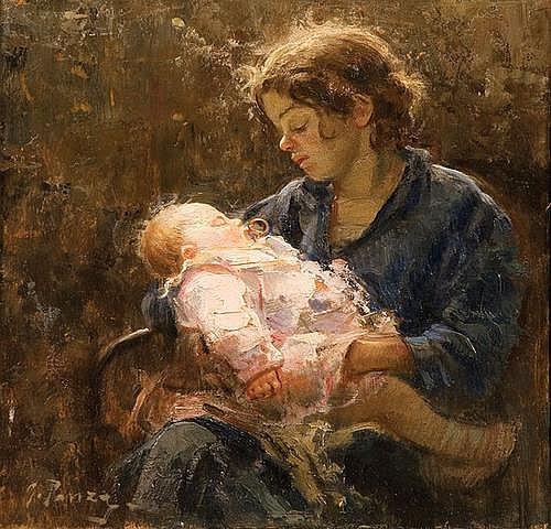 Giovanni Panza (1894-1989) La giovane mammina