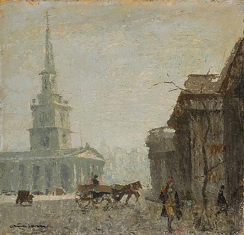 Giuseppe Amisani (1881-1941) Scorcio di Londra