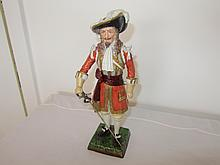 19th century german hand painted soldier figurine.
