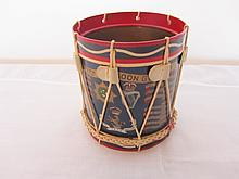 Miniature hand painted Dragoon Guard drum signed