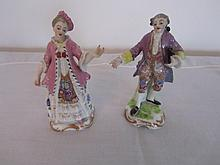 Pair of 19th century French hand painted porcelain