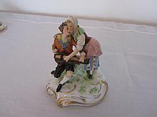19th century hand painted Capodimonte minstral