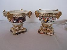 Pair of 19th century hand painted English planters.